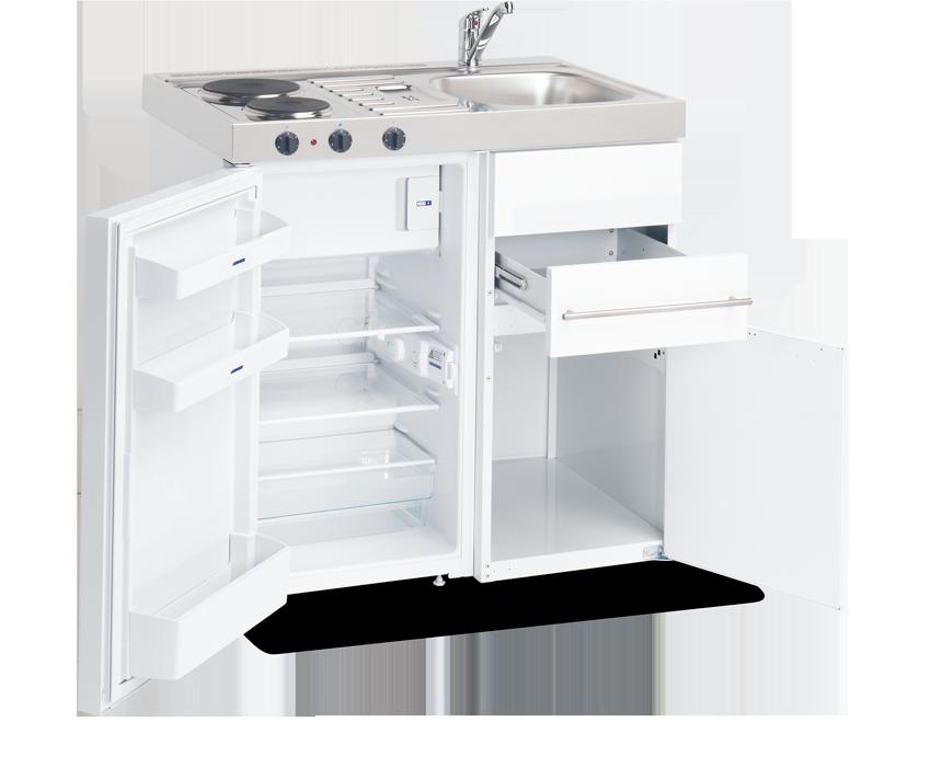 Elfin Kitchen M-090-US-RK-White open