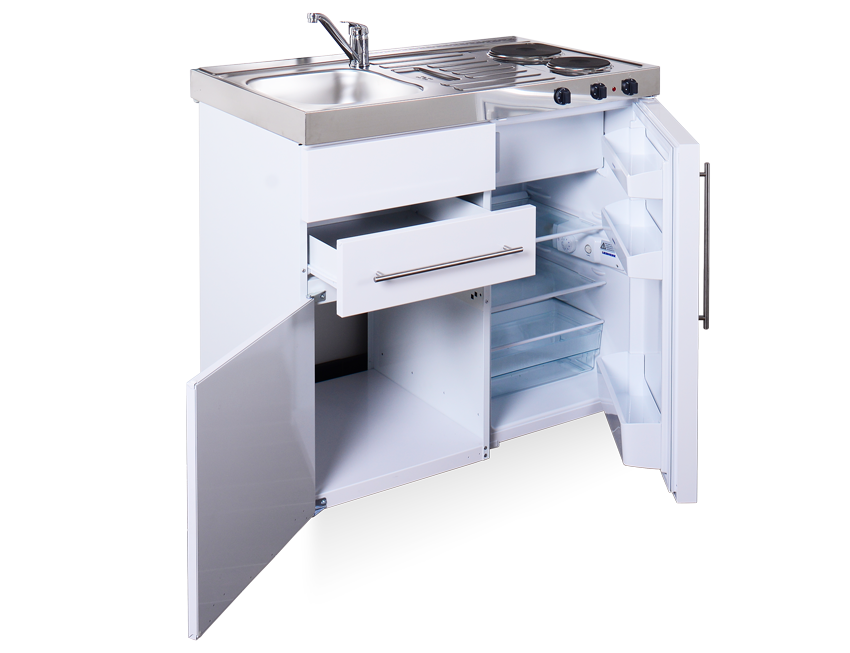 Elfin kitchens M-100-US-K/T/C open