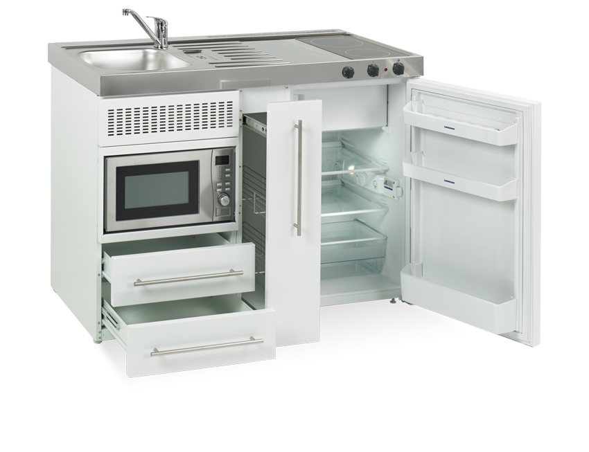 Elfin kitchen M-120-Ms-C open