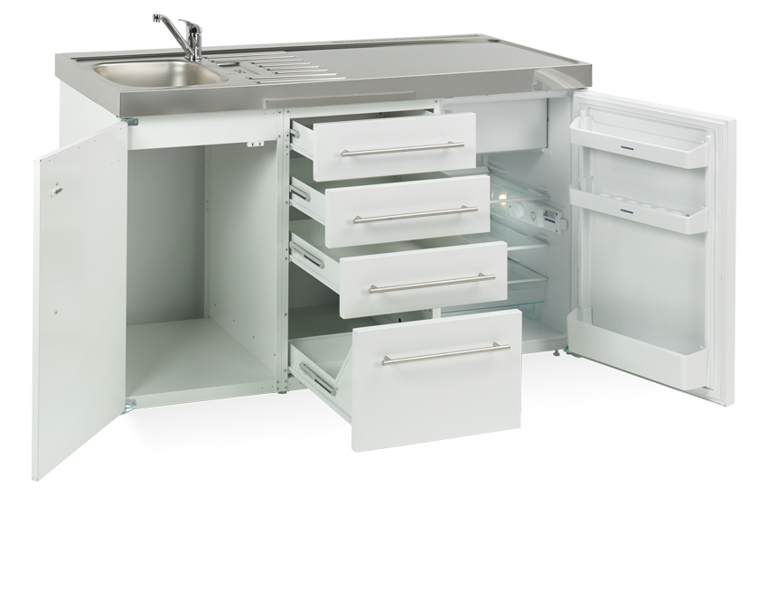 Elfin kitchen M-150-DP-T-White open