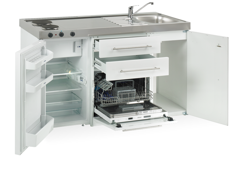 Elfin Kitchen M-150-Dw-K-White open