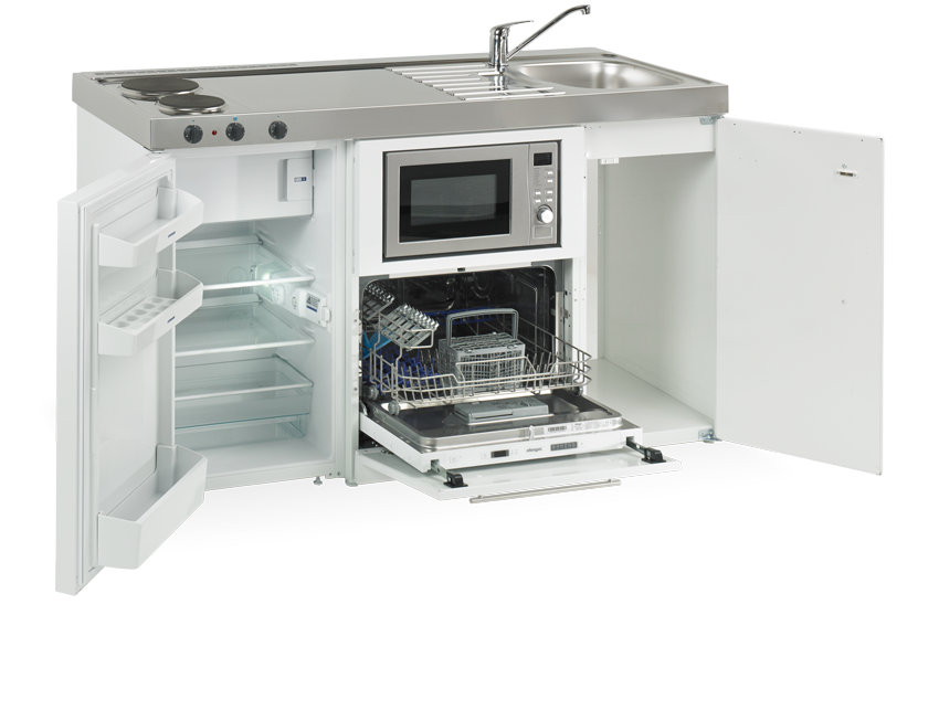 Elfin kitchen M-150-Dw-Ms-White Open
