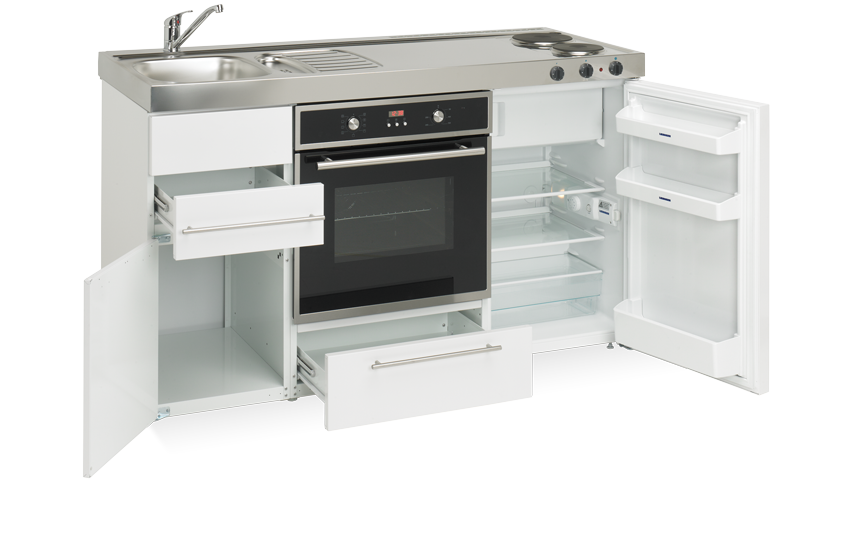 Elfin Kitchen M-150-FOV-US-LK-White open