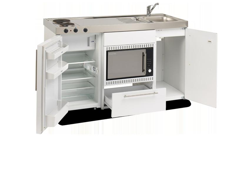 Elfin Kitchen M-150-Mos-RK-White open