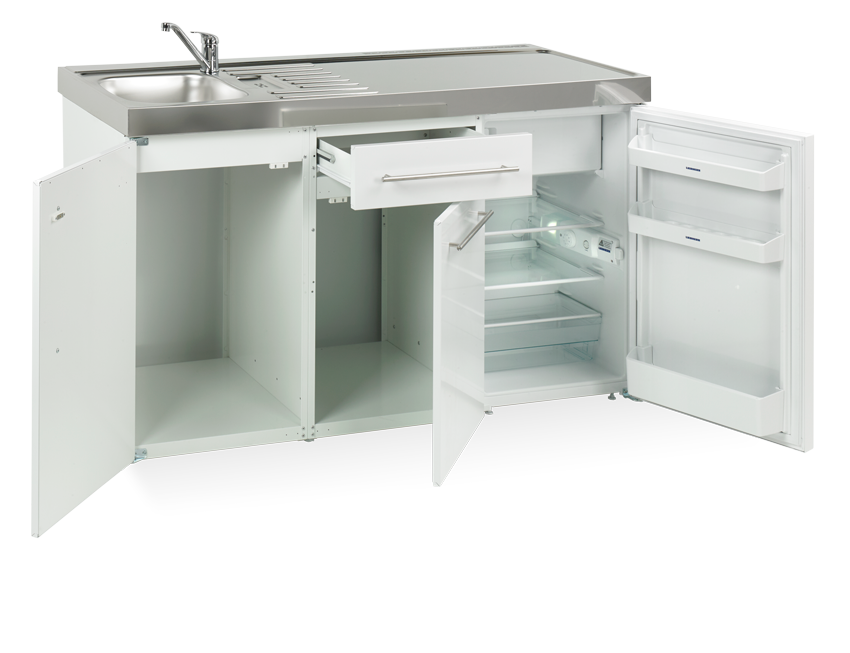 Elfin kitchen M-150-Us-White-open